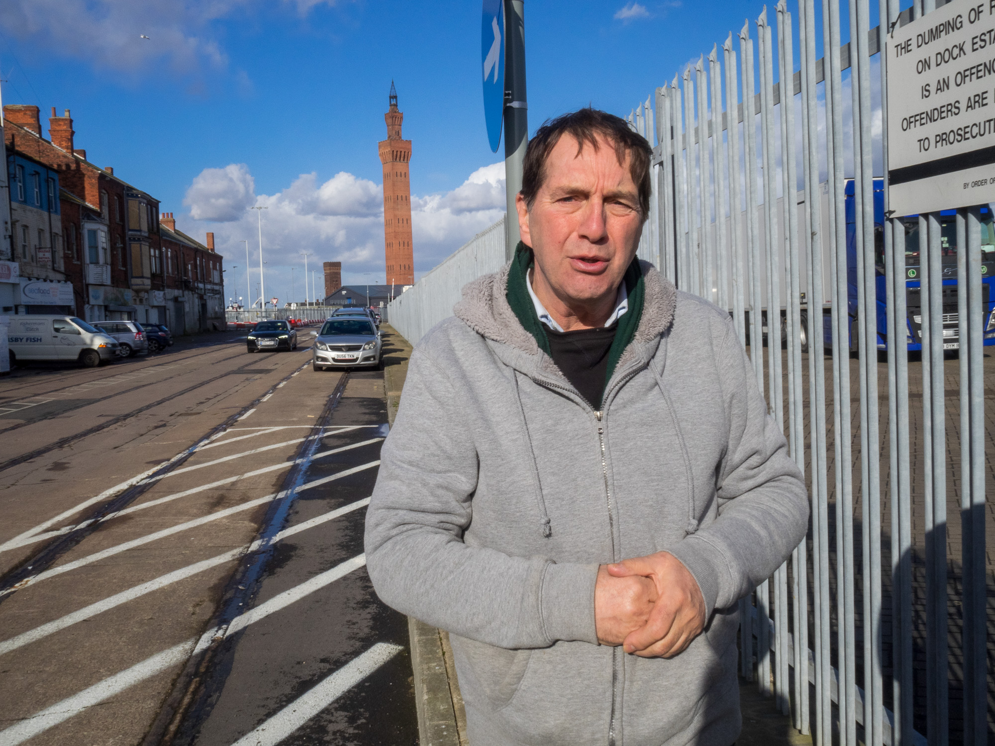 Ian Salisbury by The Kasbah, Grimsby, 2018 Image by Stewart Wall