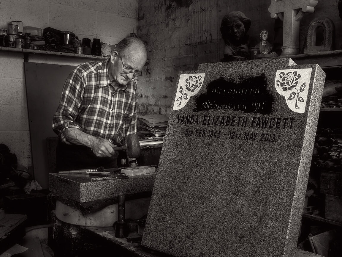 Colin Wood is the Stonemason at Lincolnshire's Caistor