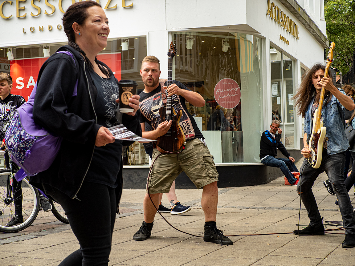 Norwich serenaded by rock © Stewart Wall,2019
