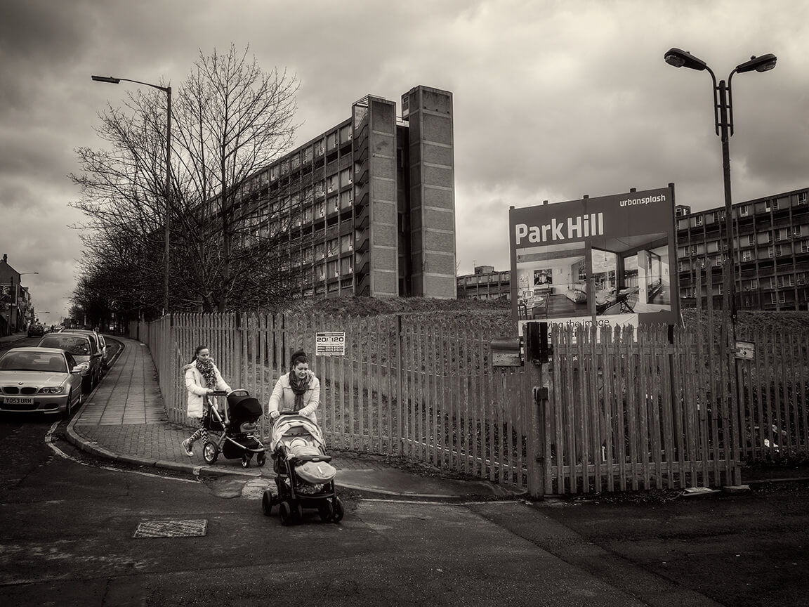 Park Hill was opened in 1961 to house families needed by local manufacturing businesses